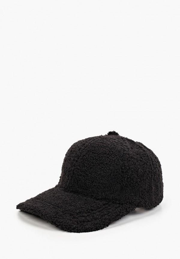 женская бейсболка fabretti, черная