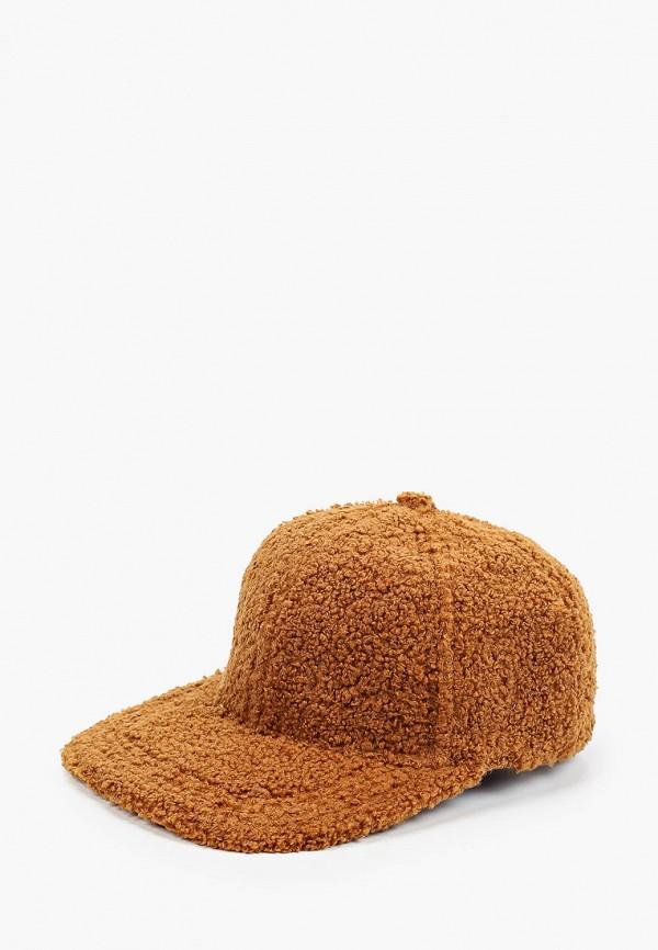 женская бейсболка fabretti, коричневая