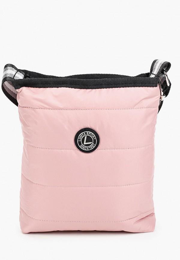 женская сумка через плечо luhta, розовая