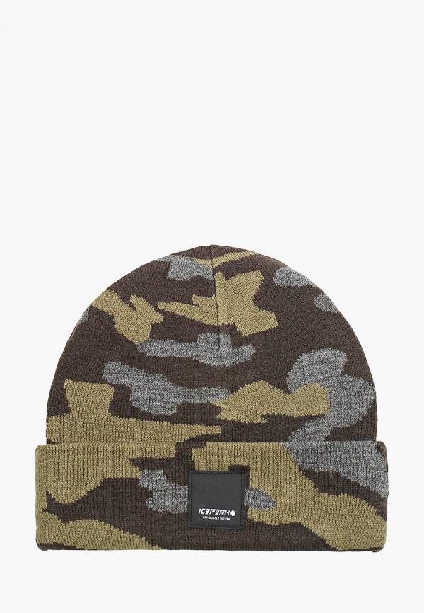 женская шапка icepeak, хаки