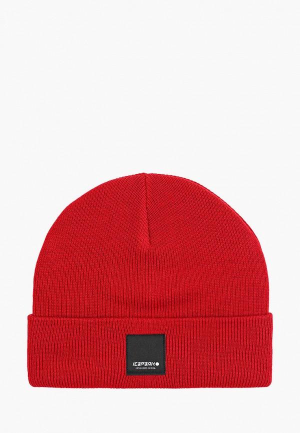 женская шапка icepeak, бордовая