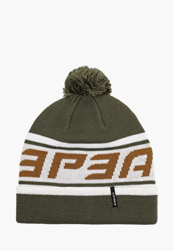 женская шапка icepeak, зеленая