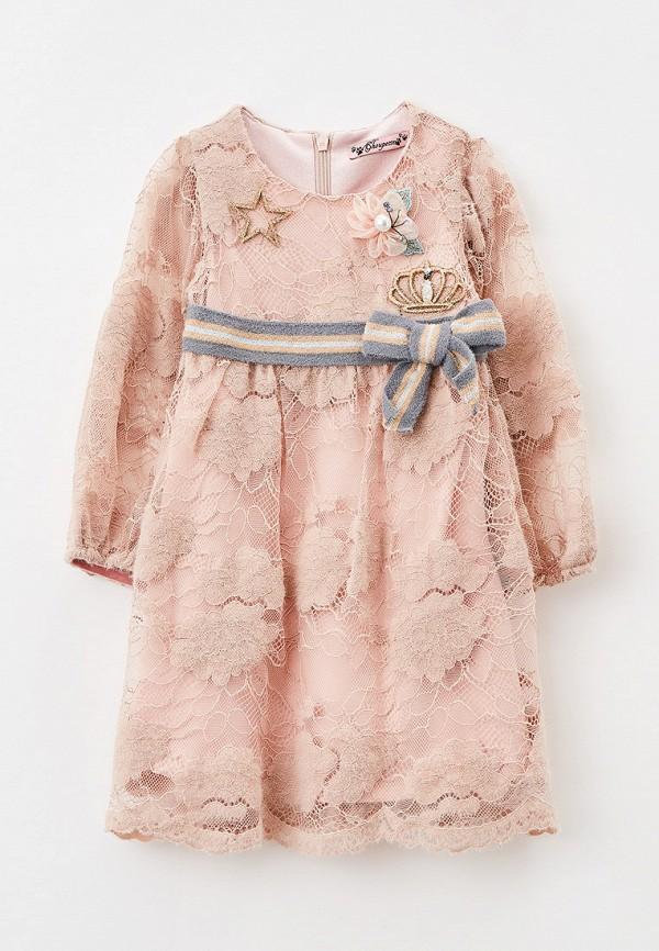 нарядные платье choupette для девочки, розовое