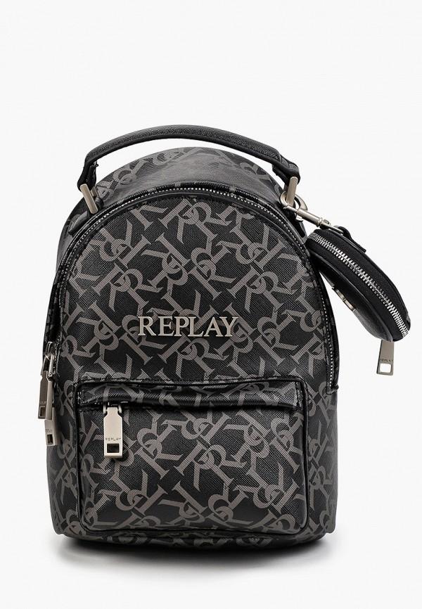 женский рюкзак replay, черный