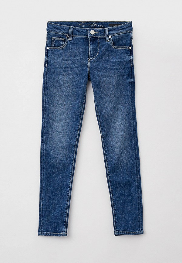 джинсы guess для девочки, голубые