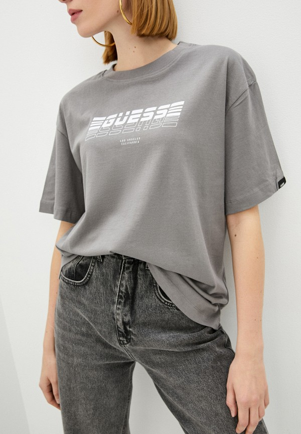 женская спортивные футболка guess, серая