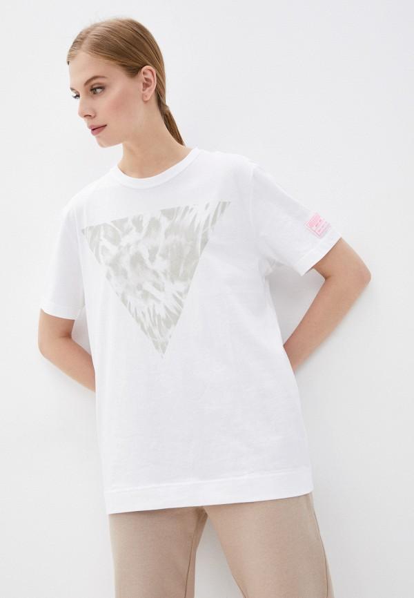 женская спортивные футболка guess, белая