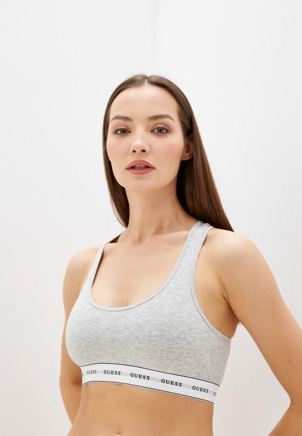 женский бюстгальтер без косточек guess, серый