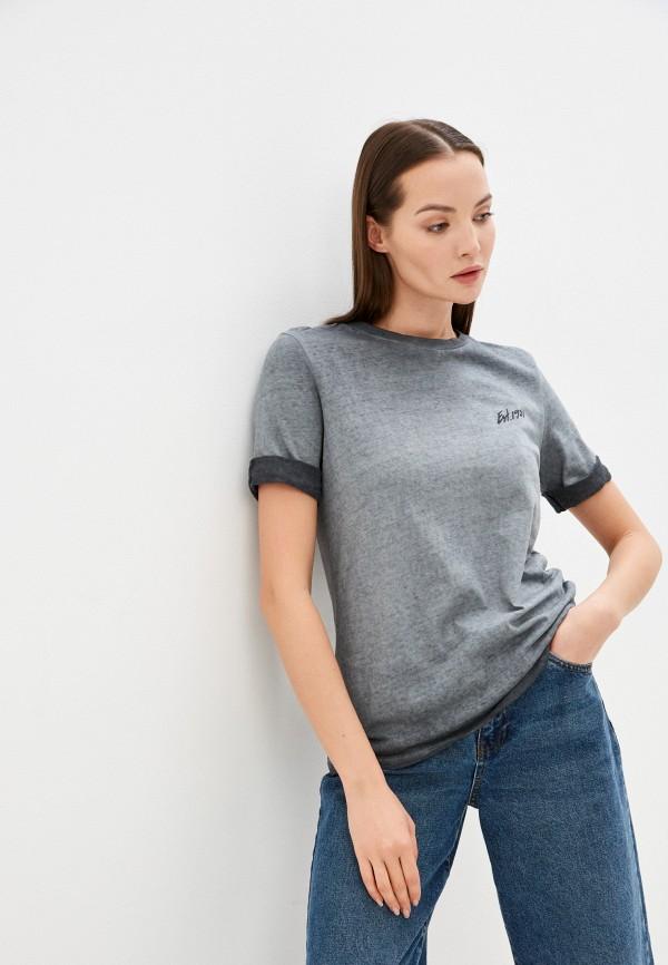 женская футболка guess, серая