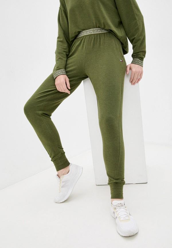 женские спортивные брюки tommy hilfiger, хаки