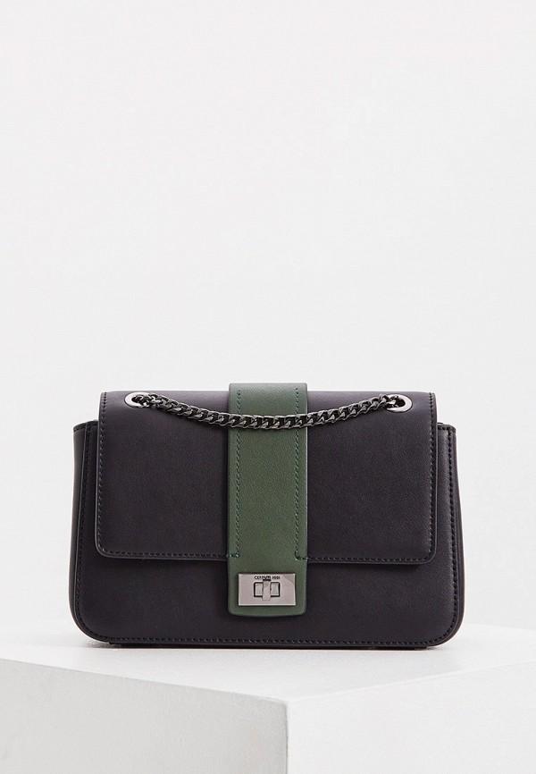 женская сумка через плечо cerruti 1881, черная