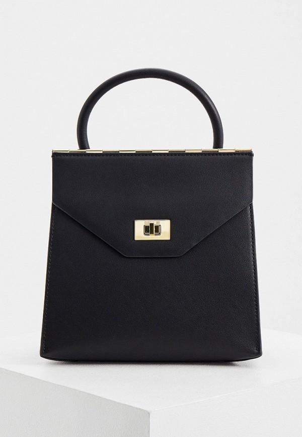 женская сумка с ручками cerruti 1881, черная