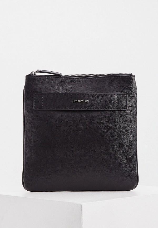 мужская сумка через плечо cerruti 1881, черная