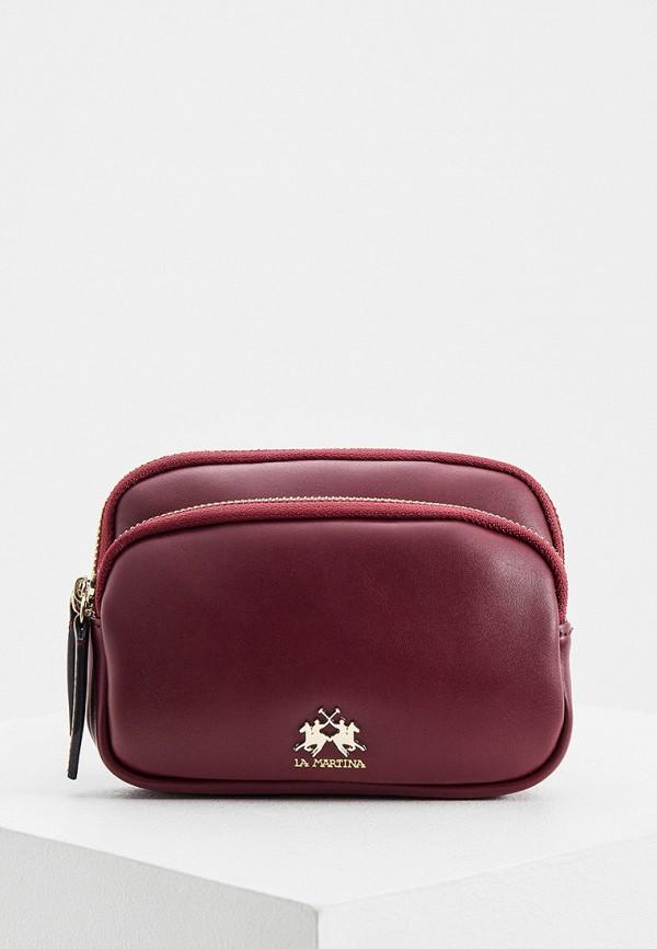 женская поясные сумка la martina, бордовая