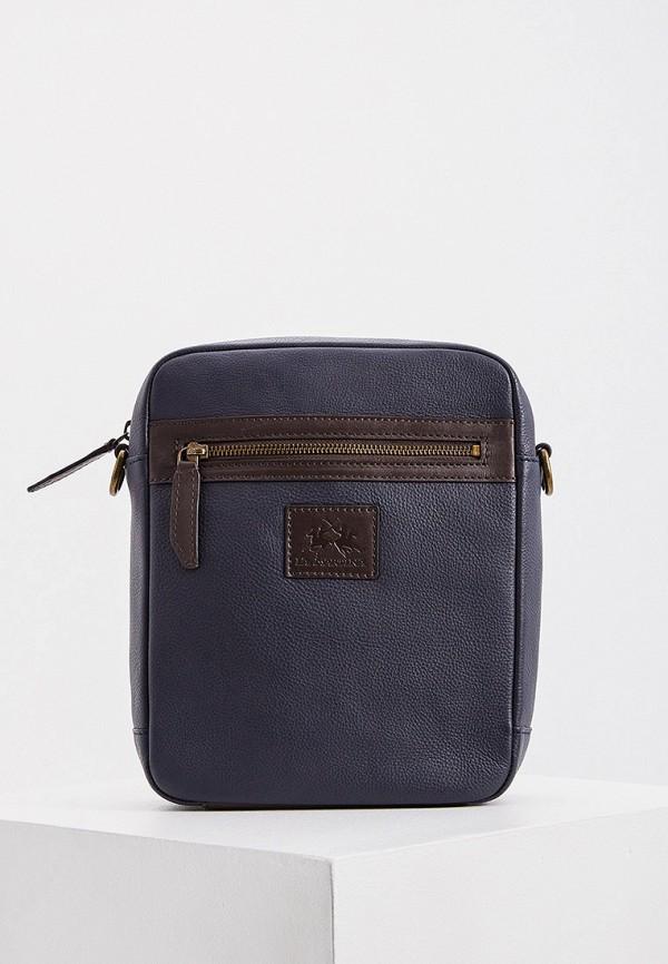 мужская сумка через плечо la martina, синяя
