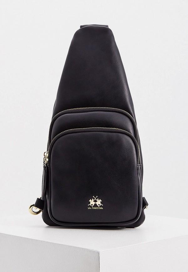 женская сумка через плечо la martina, черная