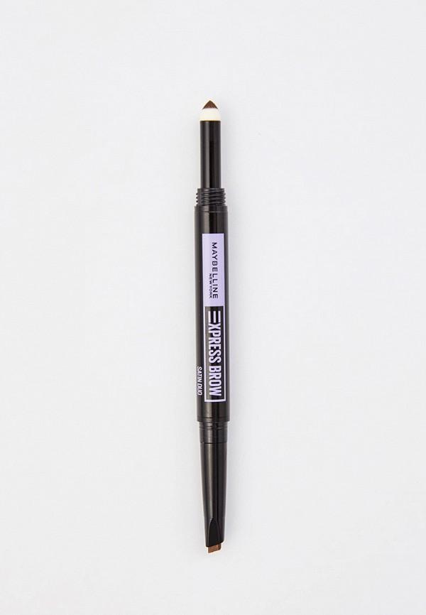 женский карандаш для бровей maybelline new york, коричневый