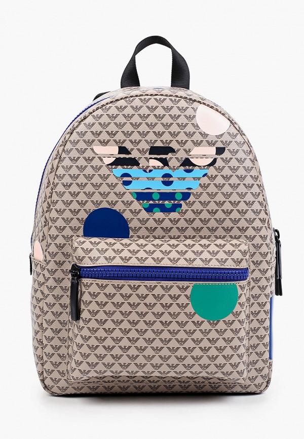 рюкзак emporio armani для девочки, коричневый
