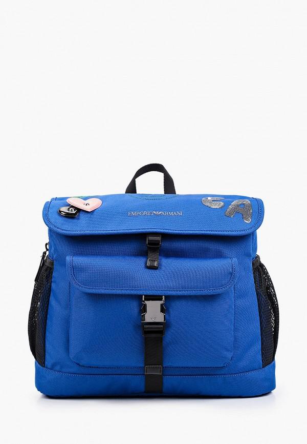 рюкзак emporio armani для девочки, синий