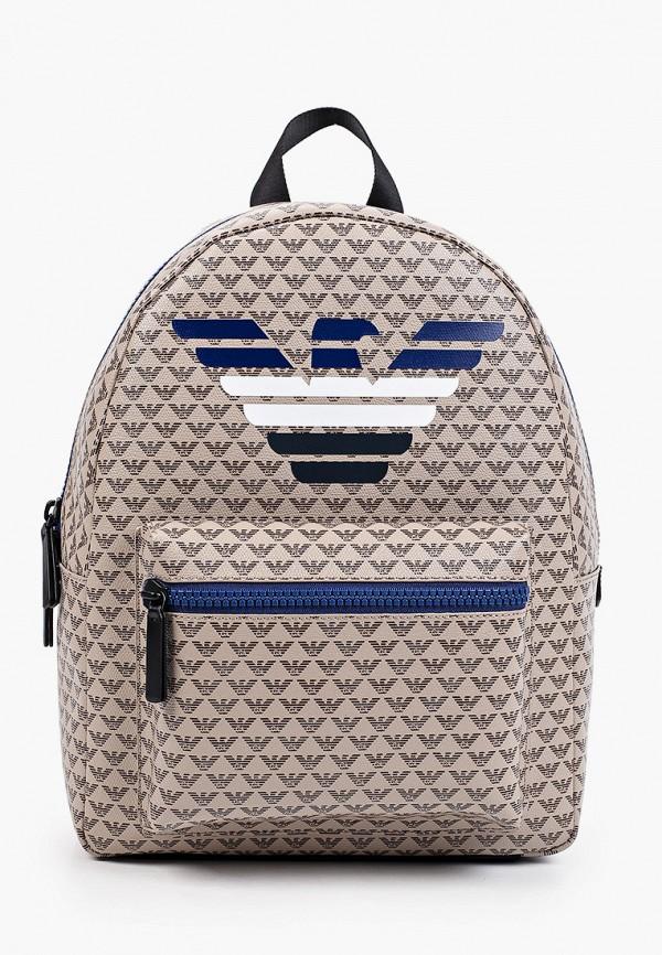 рюкзак emporio armani для мальчика, коричневый