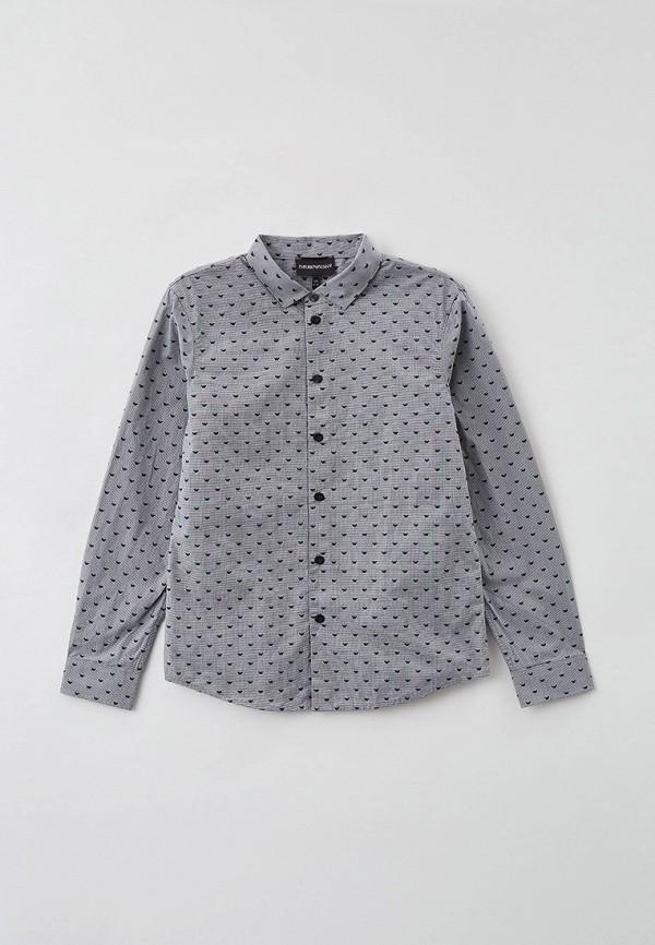 рубашка emporio armani для мальчика, серая