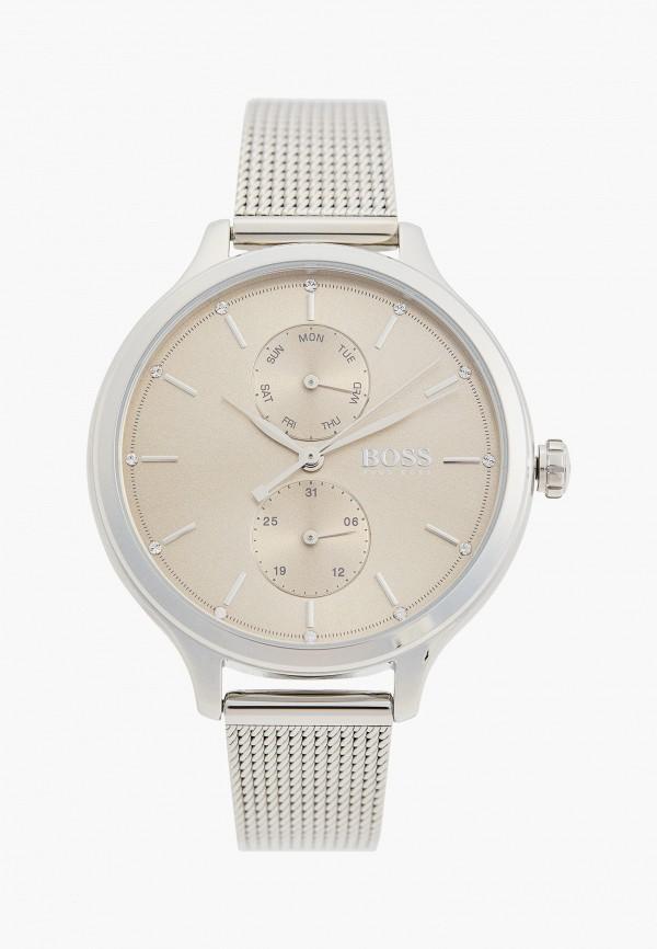 женские часы boss, серебряные