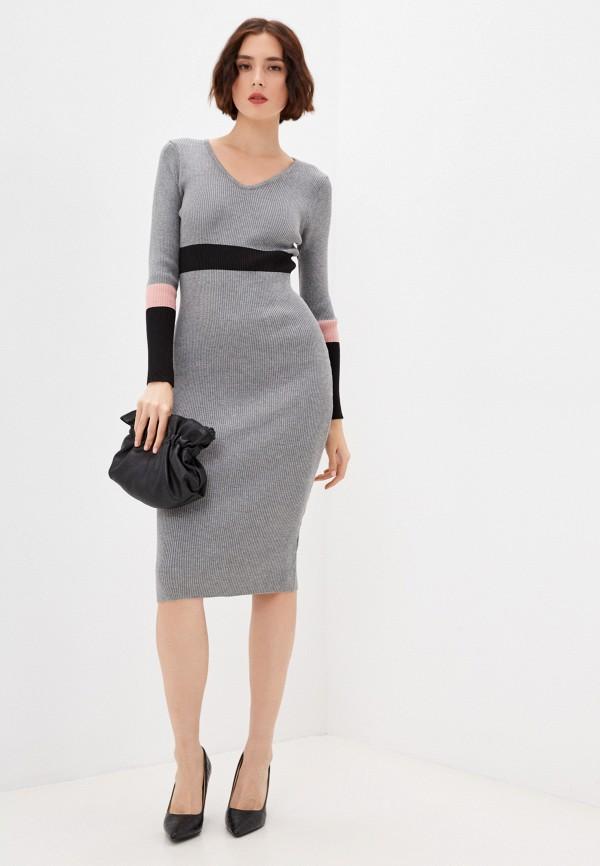 женское платье-свитеры moki, серое