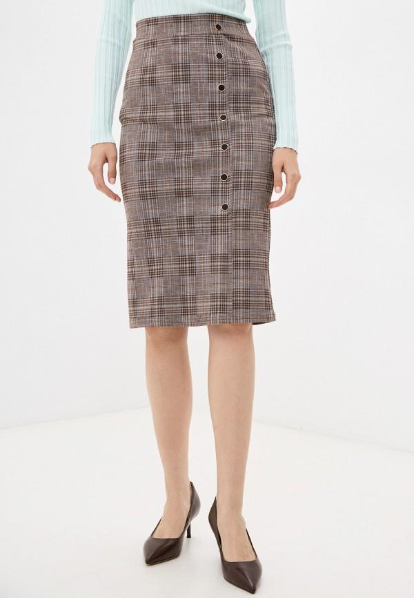 женская узкие юбка moki, коричневая