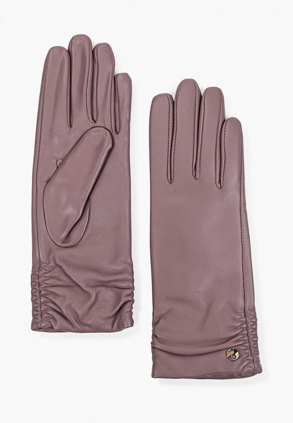 женские кожаные перчатки fabretti, фиолетовые