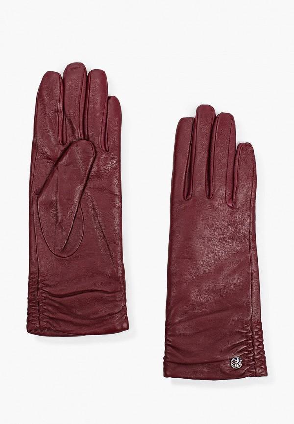 Перчатки Fabretti бордового цвета