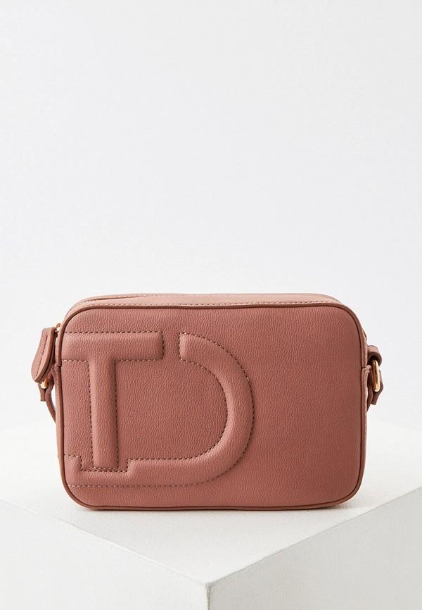 женская сумка через плечо twinset milano, розовая