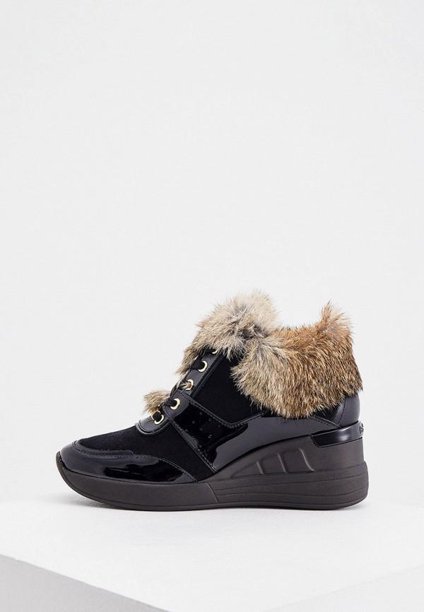 женские низкие кроссовки baldinini, черные