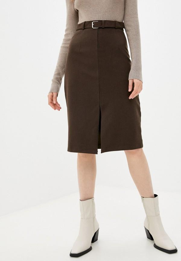 женская прямые юбка lakressi, коричневая