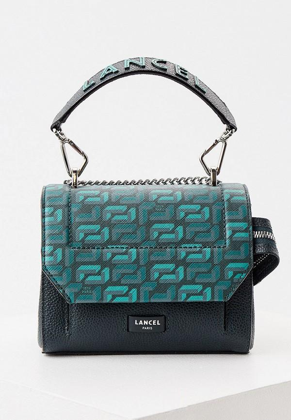 женская сумка через плечо lancel, зеленая