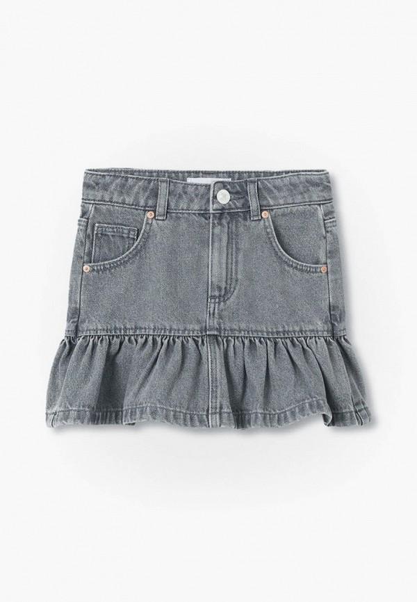 джинсовые юбка mango kids для девочки, серая