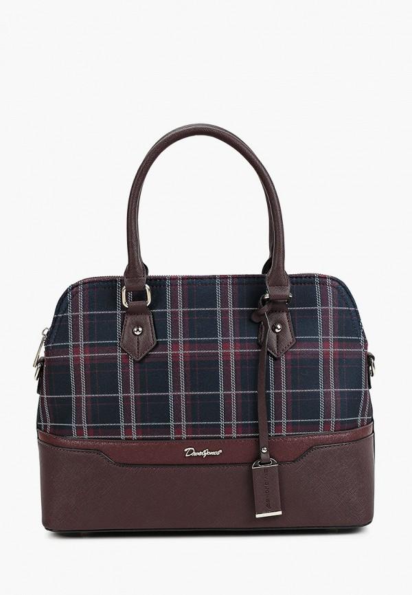 женская сумка с ручками david jones, бордовая