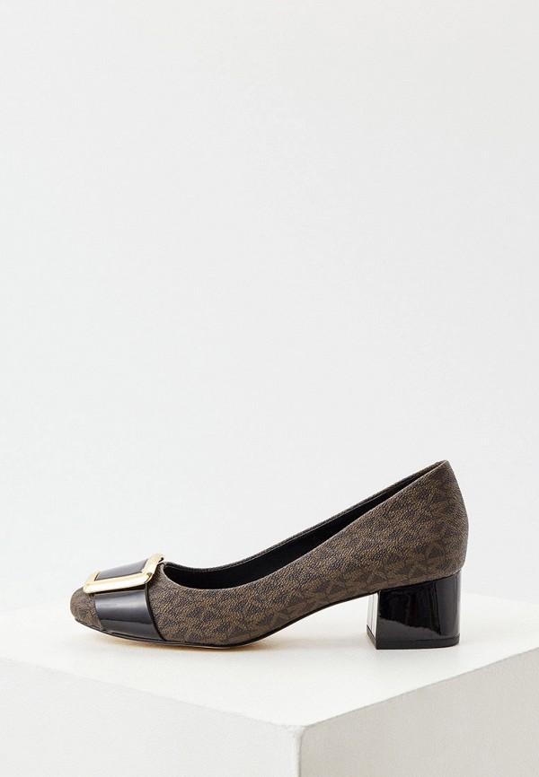 женские туфли с закрытым носом michael kors, коричневые