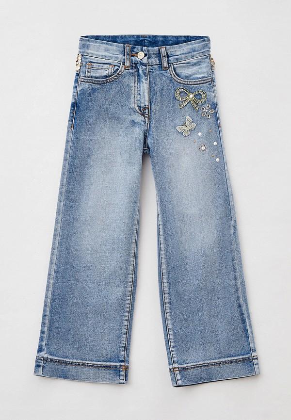 джинсы monnalisa для девочки, голубые