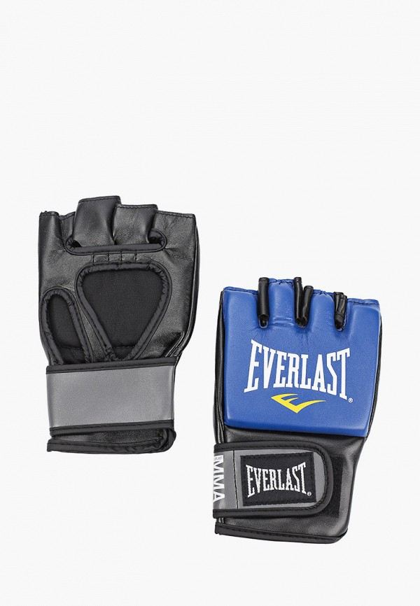 Перчатки ММА Everlast синего цвета