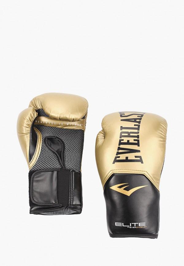 Перчатки боксерские Everlast золотого цвета