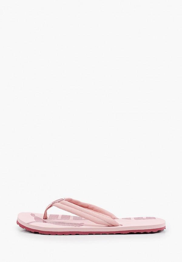 женские сланцы puma, розовые