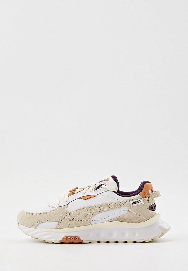 женские низкие кроссовки puma, белые