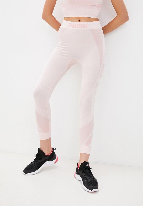 Тайтсы PUMA розового цвета