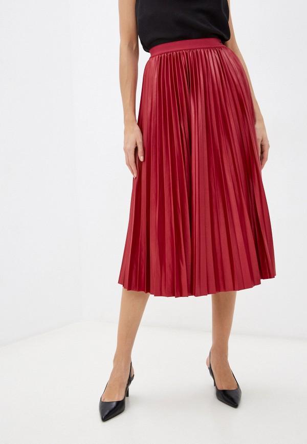 женская плиссированные юбка mexx, бордовая