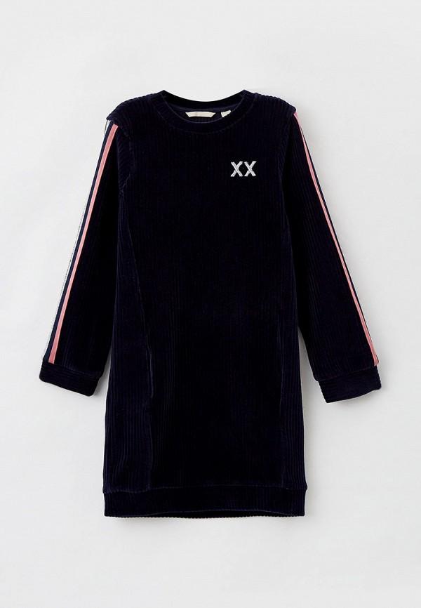 повседневные платье mexx для девочки, синее