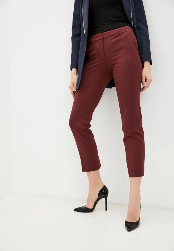 женские классические брюки twinset milano, бордовые