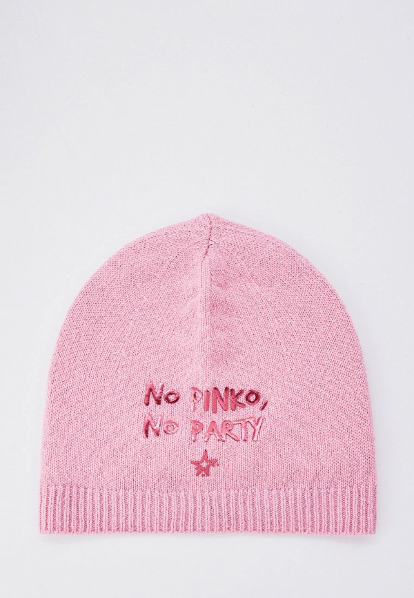 женская шапка pinko, розовая