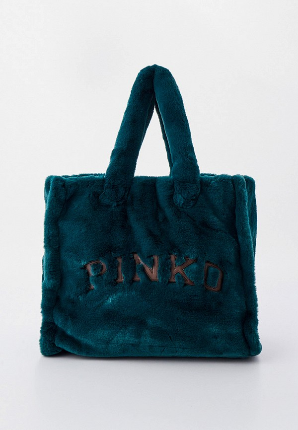 женская сумка-шоперы pinko, зеленая