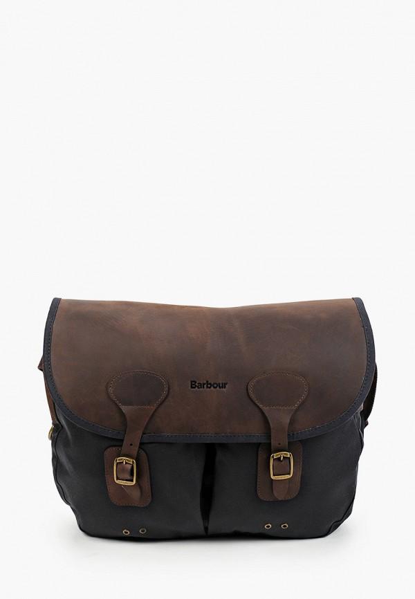 женская сумка через плечо barbour, синяя