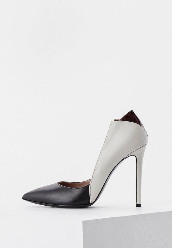 женские туфли-лодочки pollini, серые